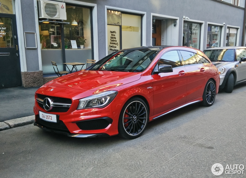mercedes benz cla 45 amg shooting brake 12 mai 2015. Black Bedroom Furniture Sets. Home Design Ideas