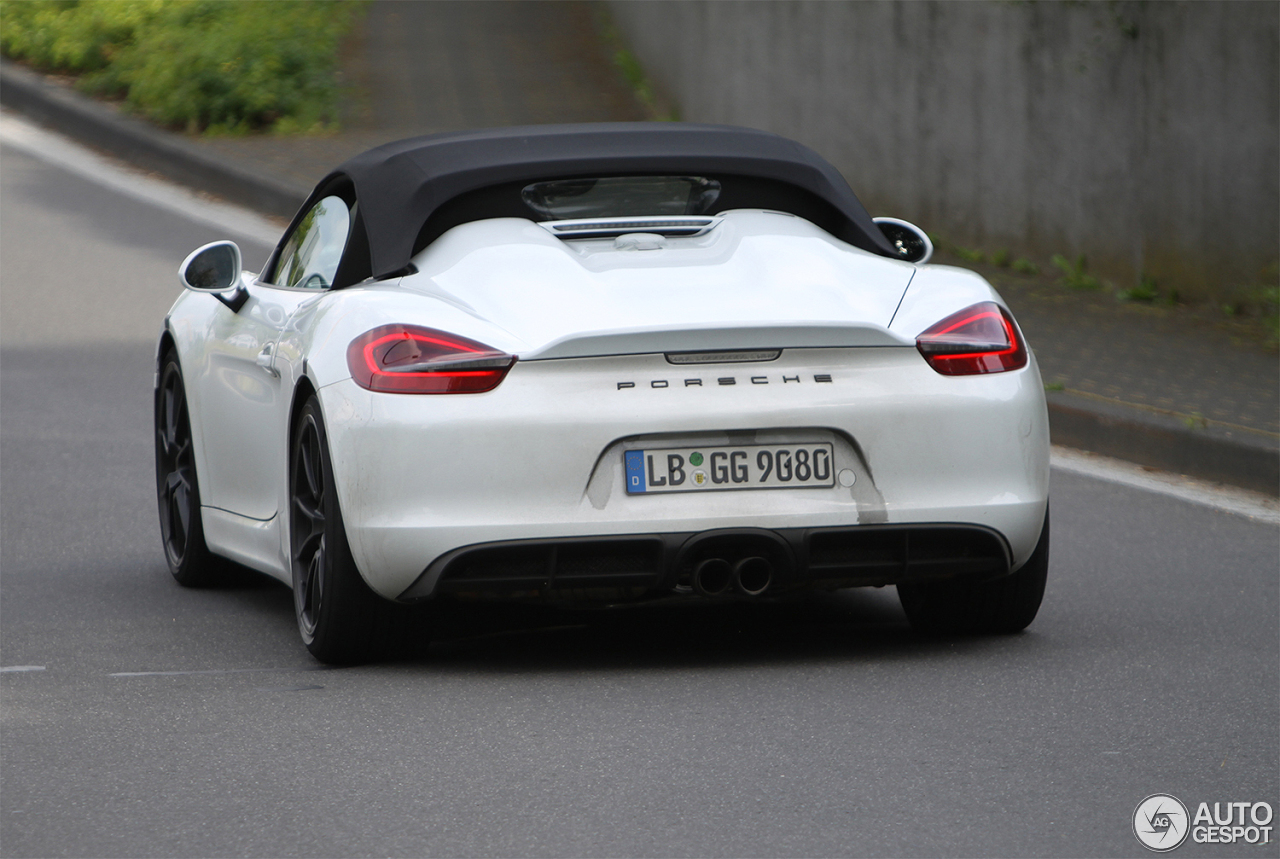 porsche 981 boxster spyder 13 juli 2015 autogespot. Black Bedroom Furniture Sets. Home Design Ideas