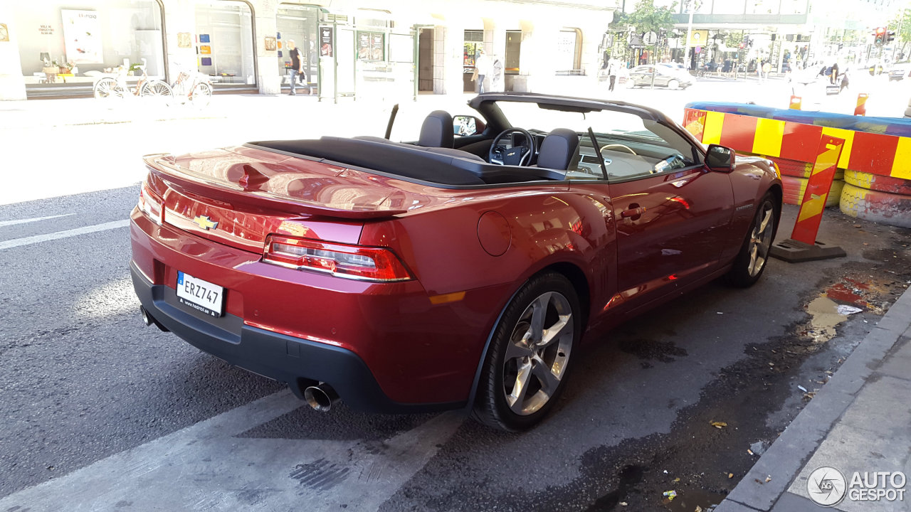 Chevrolet Camaro Ss Convertible 2014 27 August 2015 Autogespot