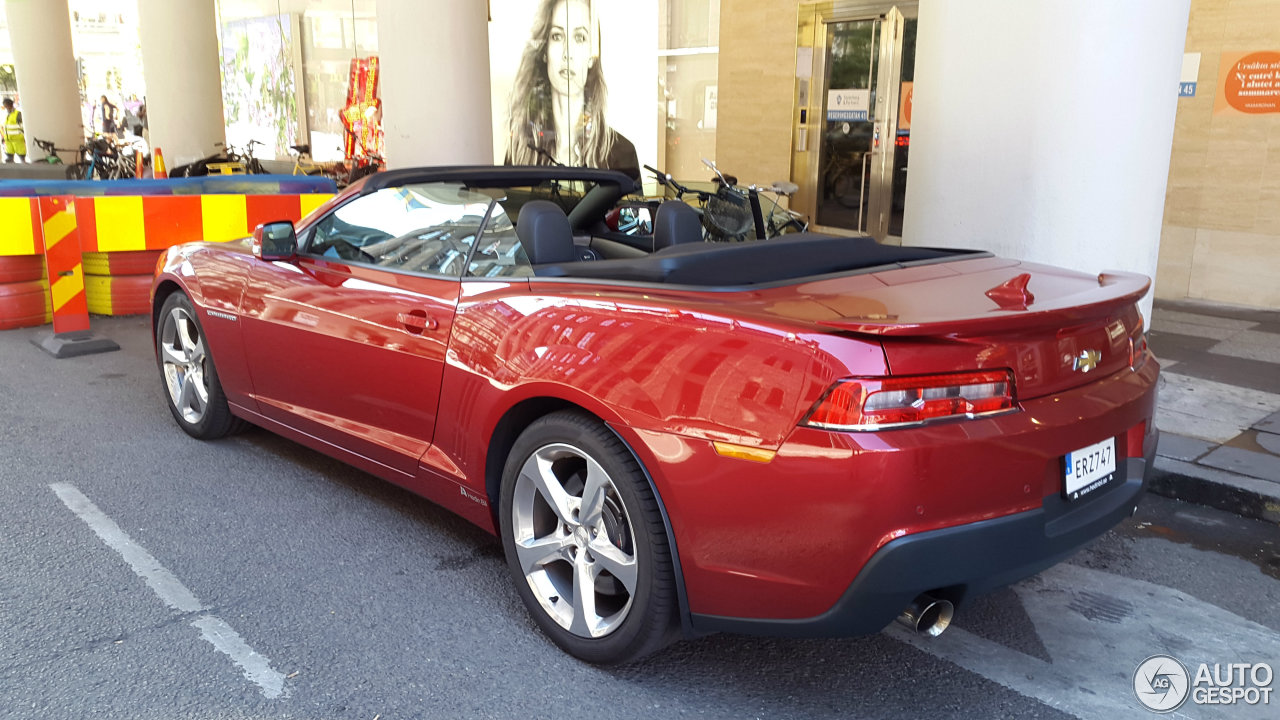 Chevrolet Camaro Ss Convertible 2014 27 August 2015