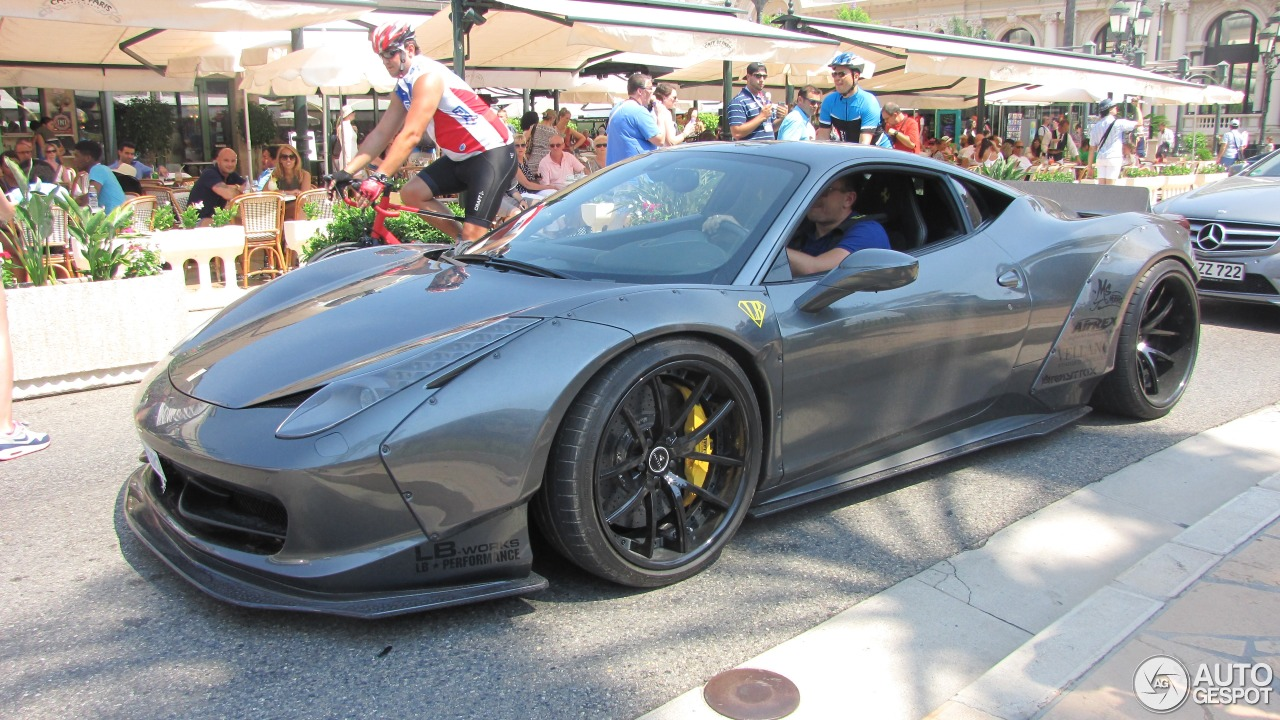 ferrari 458 italia liberty walk widebody 29 august 2015 autogespot. Black Bedroom Furniture Sets. Home Design Ideas