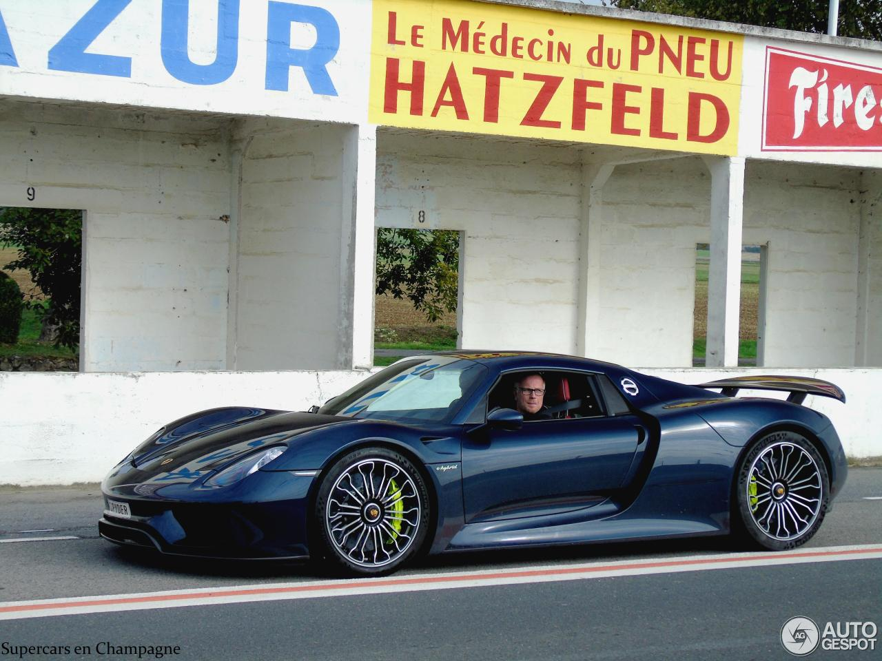 porsche 918 spyder 23 september 2015 autogespot. Black Bedroom Furniture Sets. Home Design Ideas