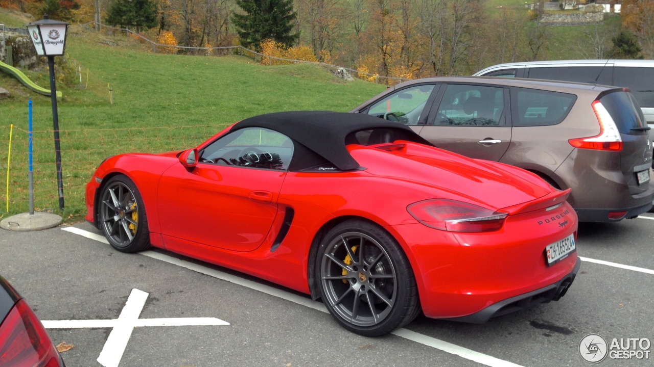 porsche 981 boxster spyder 3 november 2015 autogespot. Black Bedroom Furniture Sets. Home Design Ideas